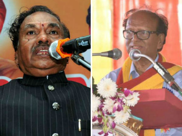 KS Eshwarappa expressed anger on writer Chandrashekar Patel of criticised