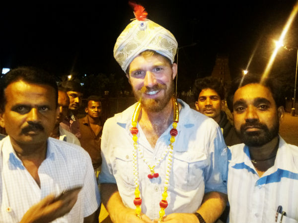 British citizen on India tour felicitated in Chamarajanagar