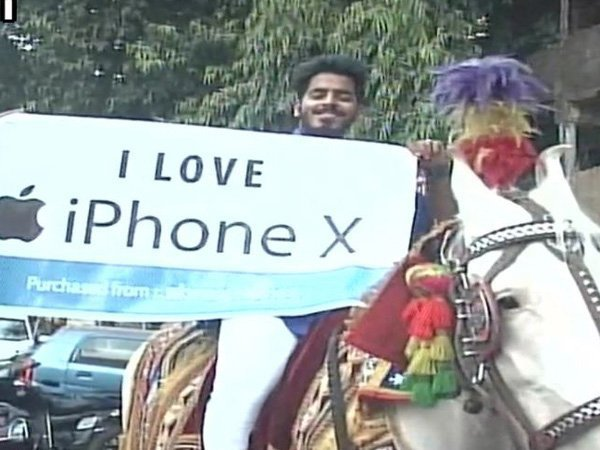 iPhone X frenzy: Man reaches store riding on horse to collect latest Apple offering
