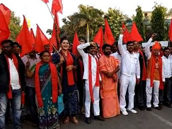 Kalaburagi: Protest for separate state formation on Kannada Rajyotsava