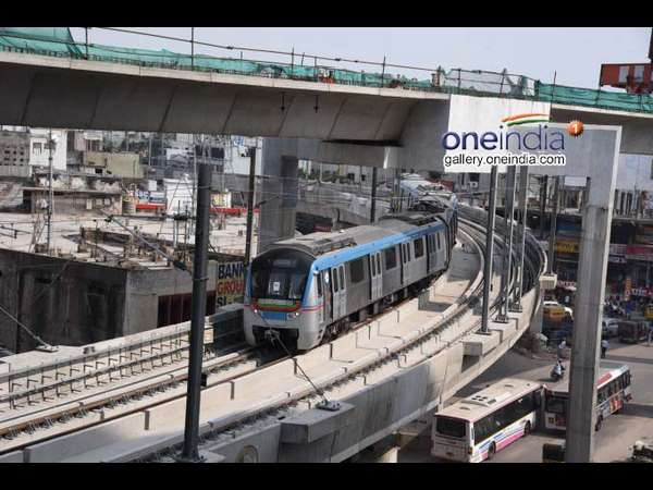Pm Narendra Modi Flag Off Hyderabad Metro Rail On November