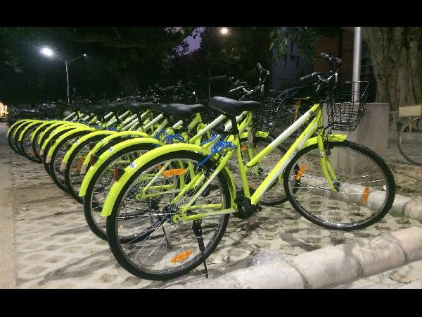 GPS-enabled smart Bicycles that will be available in GKVK Campus