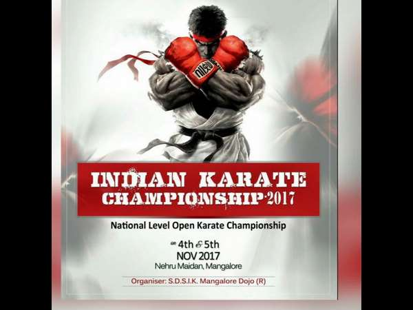National Level Free Karate championship will begin in Mangaluru on Nov 4th