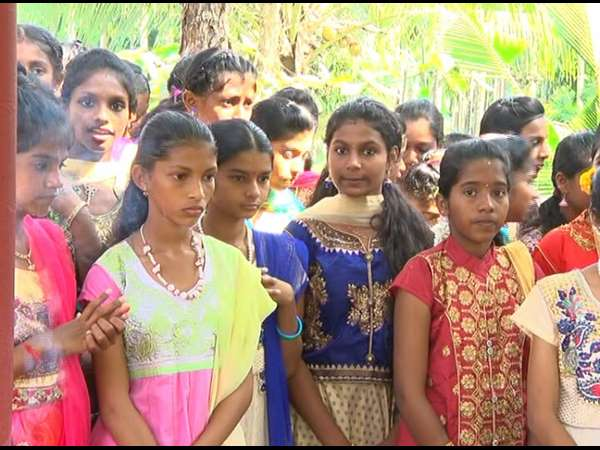 School children's perfome Daivaradhane in Bantwal