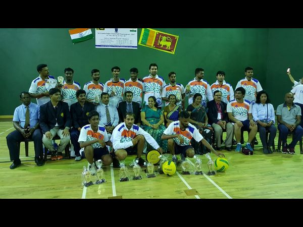 India wins both men-women throwball series in Srilanka