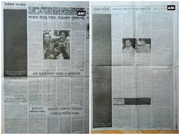 ತ್ರಿಪುರ: ಪತ್ರಕರ್ತನ ಸಾವಿಗೆ ಕಪ್ಪು ಸಂಪಾದಕೀಯದ ಪ್ರತಿಭಟನೆ
