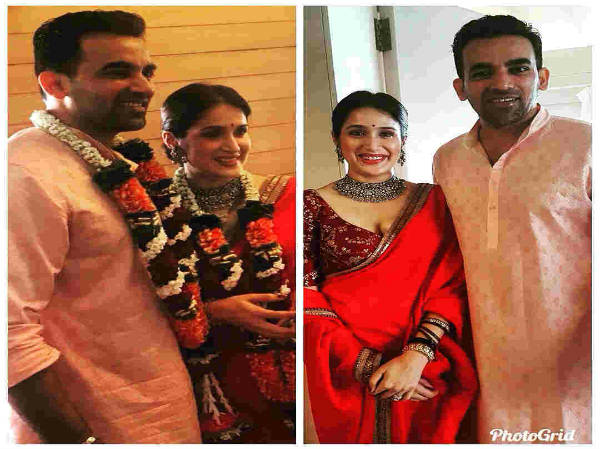 Zaheer Khan and Sagarika Ghatge registered their marriage