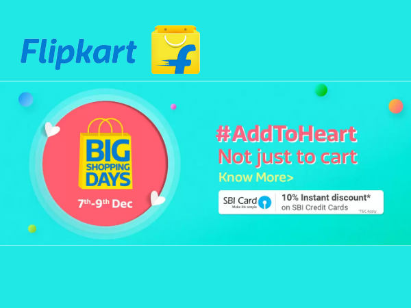 Flipkart Big Shopping Days Sale! Upto 70% Off On All Products