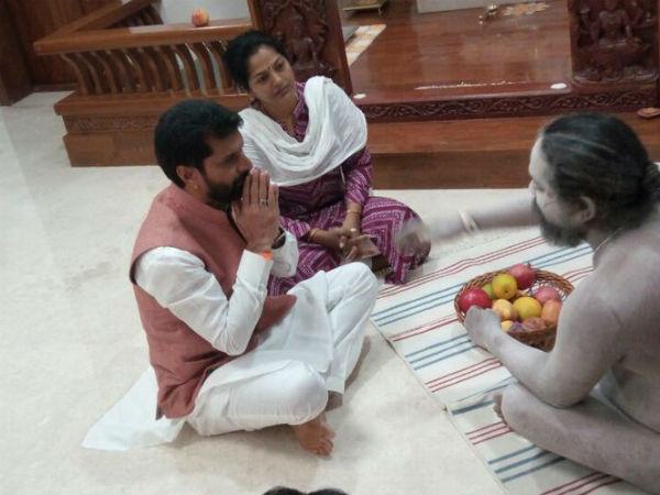 ಬಿಜೆಪಿ ಶಾಸಕ ಸಿಟಿ ರವಿ ಮನೆಗೆ ನಾಗಾ ಸಾಧು ಭೇಟಿ