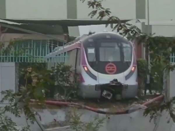 Delhi Metro train crashes into wall during test run