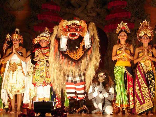 Barong Animal Mask Dance Of Bali Indonesia