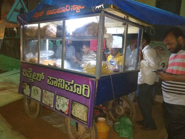 Vignesh panipuri- a brand name in Tirthahalli