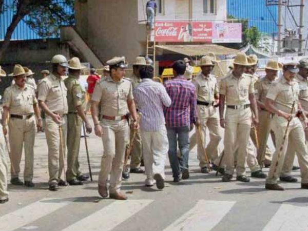 Police Security To District Congress Office In Vijayapura