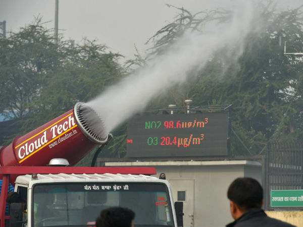 Delhi Government Tests Anti Smog Guns To Fight With Smog