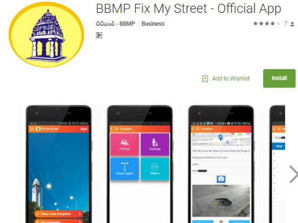 BBMP Launches 'Fix My Street' App to Resolve Civic Woes