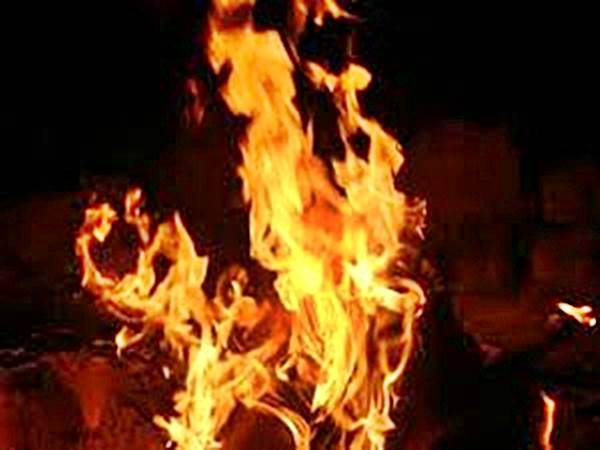 In a fire accident in Belagavi district 5 animals were burned alive