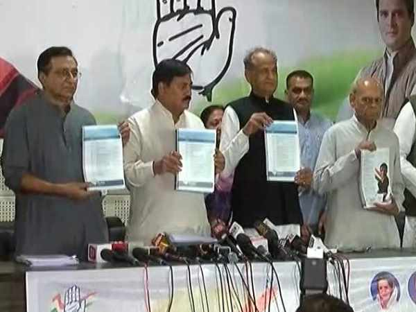 Congress releases Manifesto for Gujarat Election 2017