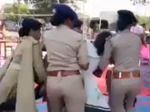Martyred BSF jawan's daughter dragged out of Gujarat CM Vijay Rupani's rally