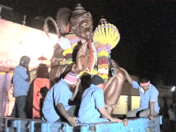 Hanuma Jayanti dispute in Mysuru: Hanuman statue shifted