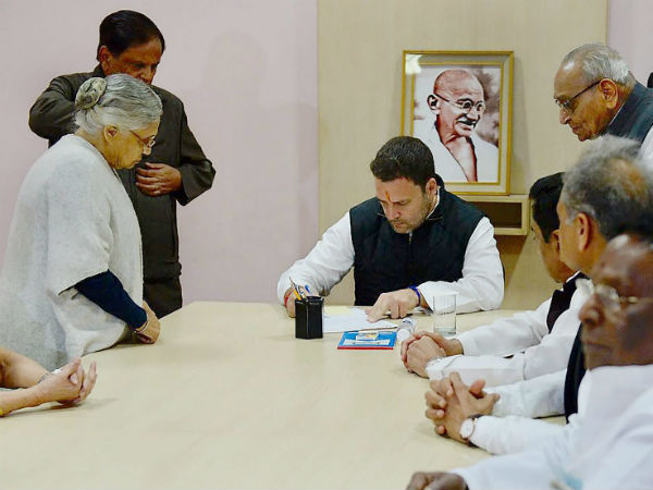 Rahul Gandhi files nomination for Congress President at AICC HQ