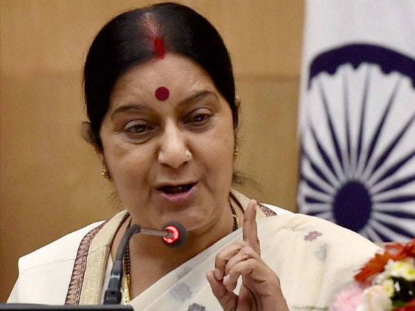 Pakistan has insulted to Jadhav's mother, wife : Sushma Swaraj
