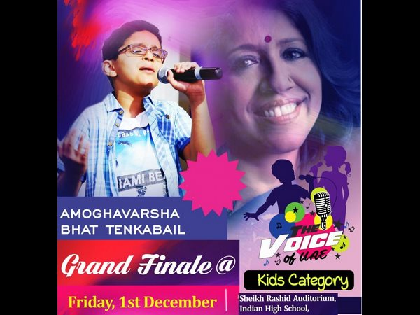 Voice Of Uae Kids Kavita Krishnamurthy Appreciates Kannada Singer