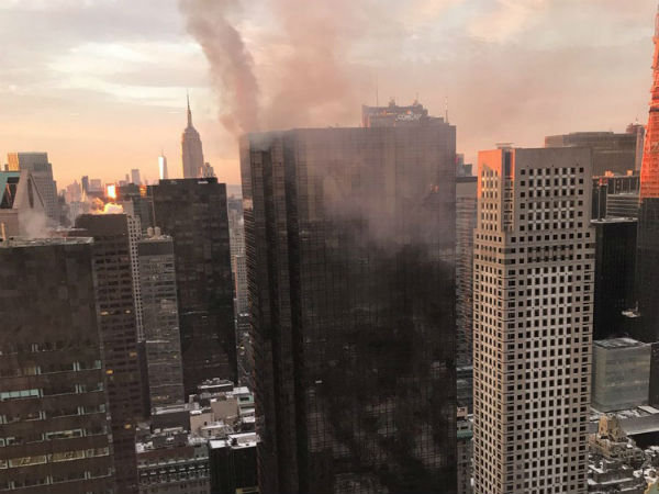 Fire accident in Trump Tower