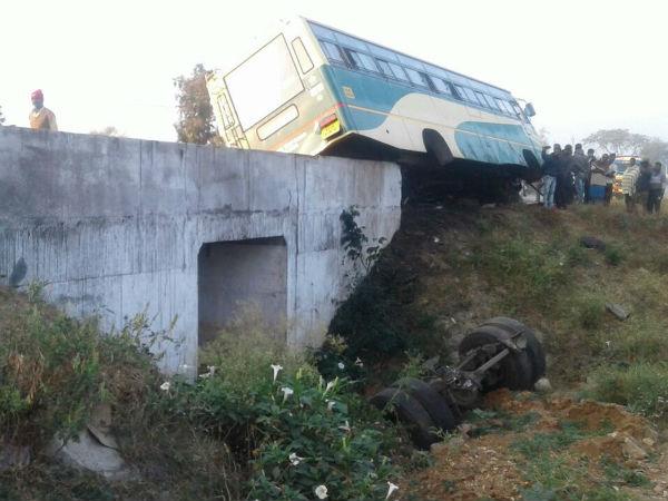 Chamarajanagar Bus Accident Conductor Dies