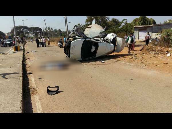 Car Accident In Mysuru 3 Students Dead Two Injuired