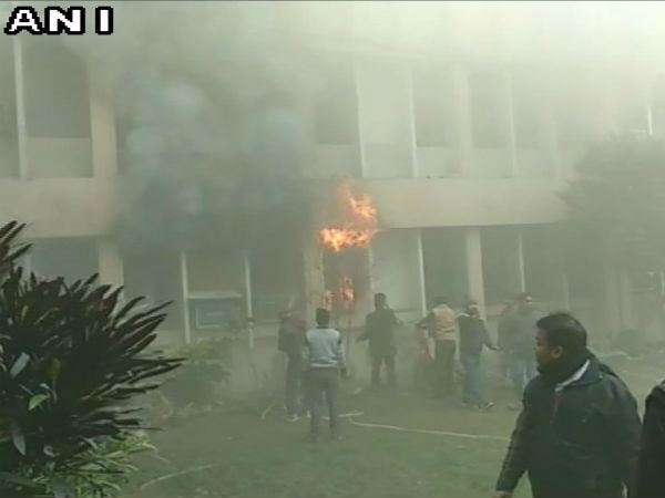 Fire broke out at principal office in Baba Raghav Das Medical College Gorakhpur