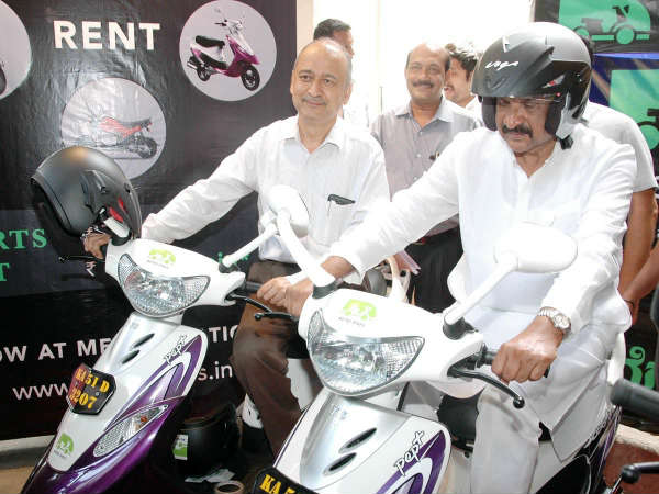Bike on rent service for metro commuters