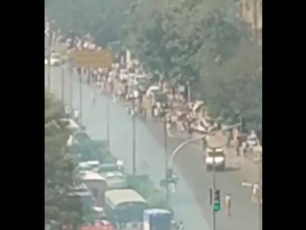 Protest Over Bheema Koregaon Riots In Mumbai