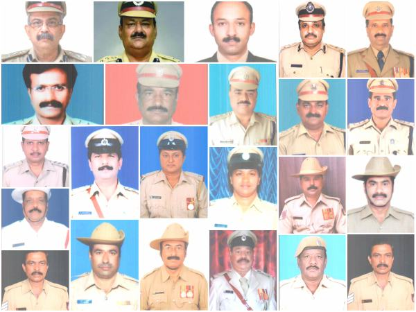 Karnataka Police Personnel Conferred With President Medals