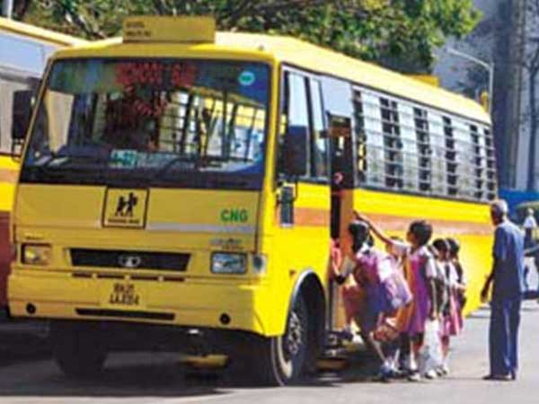 Accident Between School Bus And Bike In Belagavi 4 Died