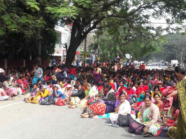 ಅನುದಾನ ಕಡಿತ: ಕೇಂದ್ರದ ವಿರುದ್ಧ ಅಂಗನವಾಡಿ ಕಾರ್ಯಕರ್ತೆಯರು ಗರಂ