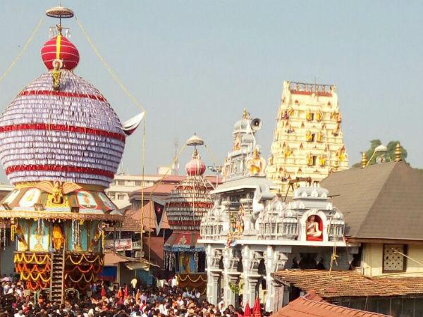 Sapthotsava Concludes With Churnotsava At Sri Krishna Temple In Udupi