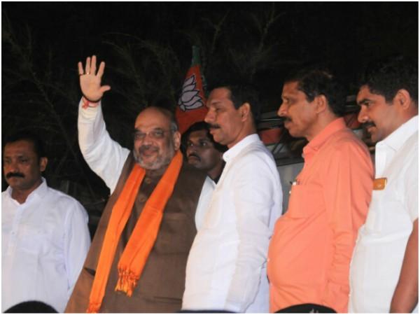 Bjp National President Amith Shah Ariives In Mangaluru For 3 Day Coastal Karnatak Tour