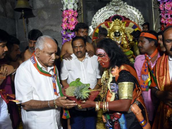 Bs Yeddyurappa Flags For Karaga Fest In Karagapet