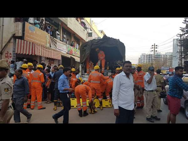 KJ George visits to Sarjapur building collapse place