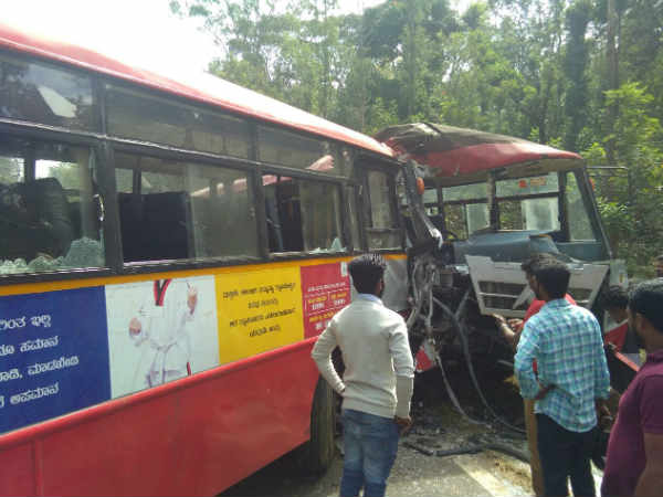 KSRTC bus accident in Madikeri: Two dead, 15 injured