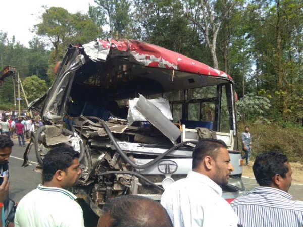 Ksrtc Bus Accident In Madikeri Two Dead 15 Injured