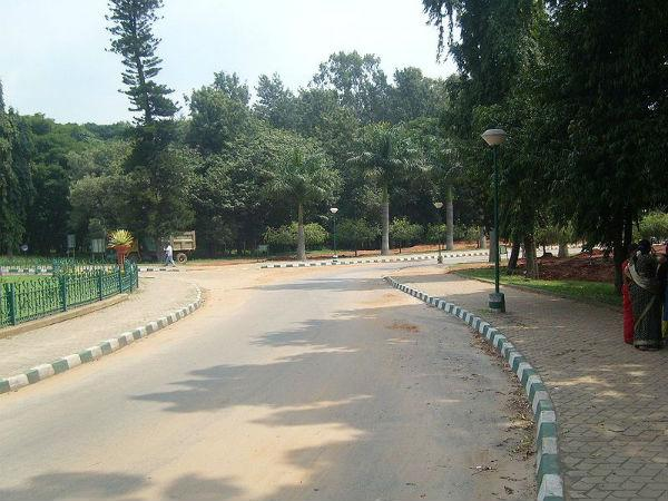 Modern sign board in cubbon park to assist tourist