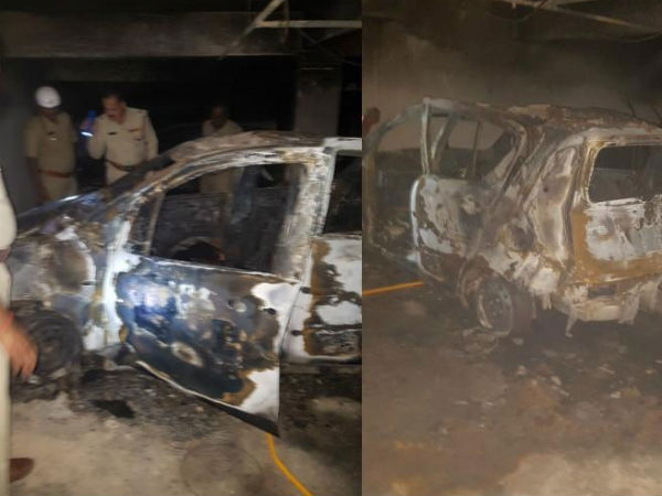 Car Mysteriously Catches Fire In Bengaluru Woman 4 Year Old Son Charred To Death