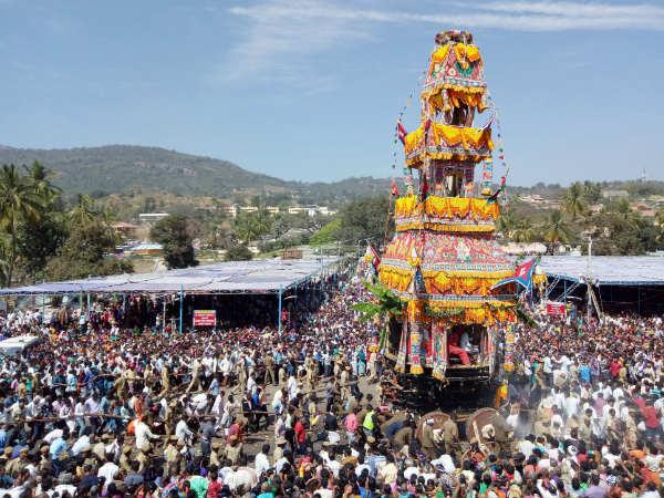 Spectacular Jatra At Male Mahadeshwara Betta