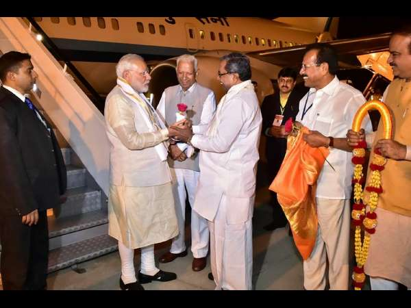 Modi arrived in Mysuru and participated in several programs on Monday