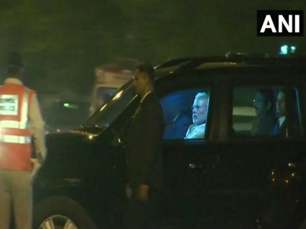 Modi Meets Parrikar In Hospital Goa Cms Ailment Still A Mystery