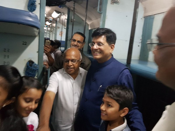 Piyush Goyal in inspection mode, travels in general coach of Kaveri Express