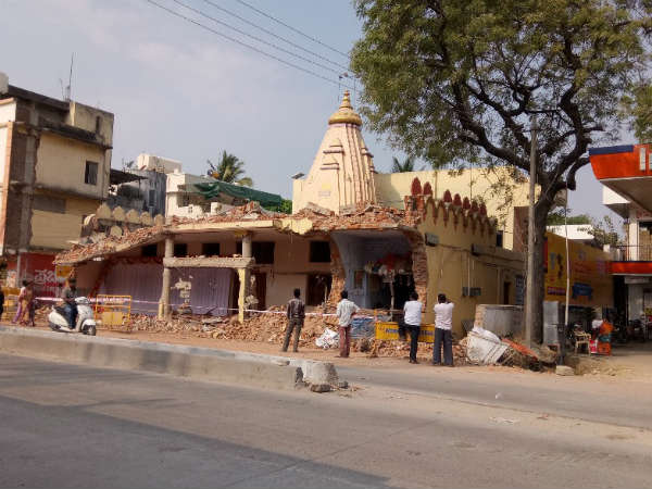 Temple And Masjid Demolished In Raichur For Road Construction