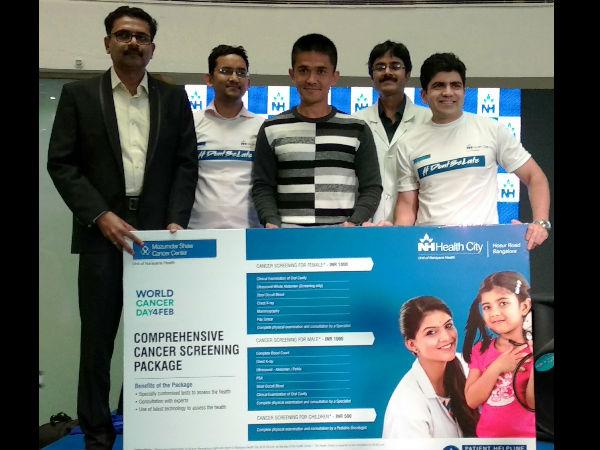 Sunil Chhetri Kicks Off Dontbelate Campaign Narayana Health City