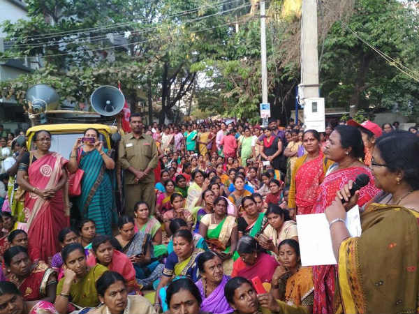 Midday meal workers protest continues on 4th day